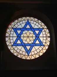 star of david stain glass